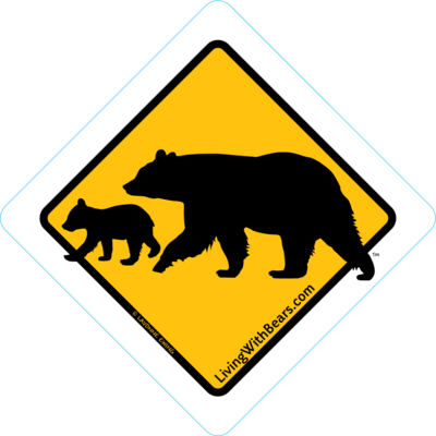 Black Bear Sign Artwork - Mama Bear & Cub (GOLD)