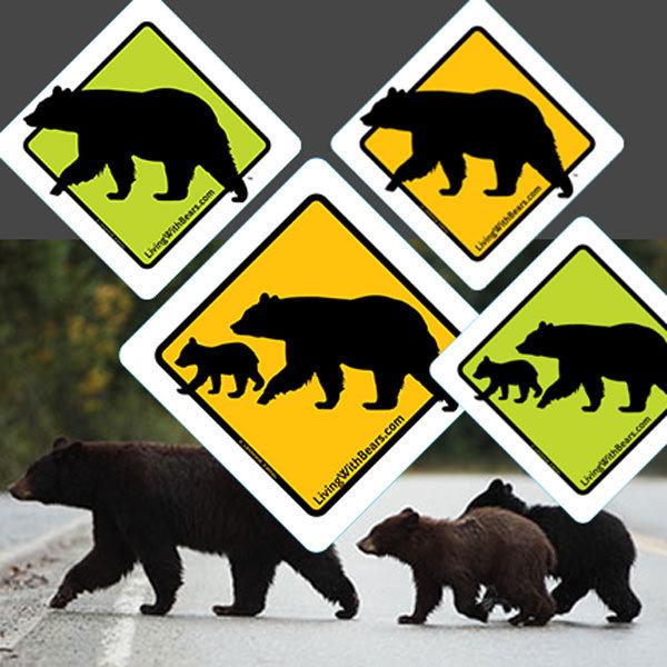 Black Bear Sign Artwork (all 4 versions) SGN-4Bears