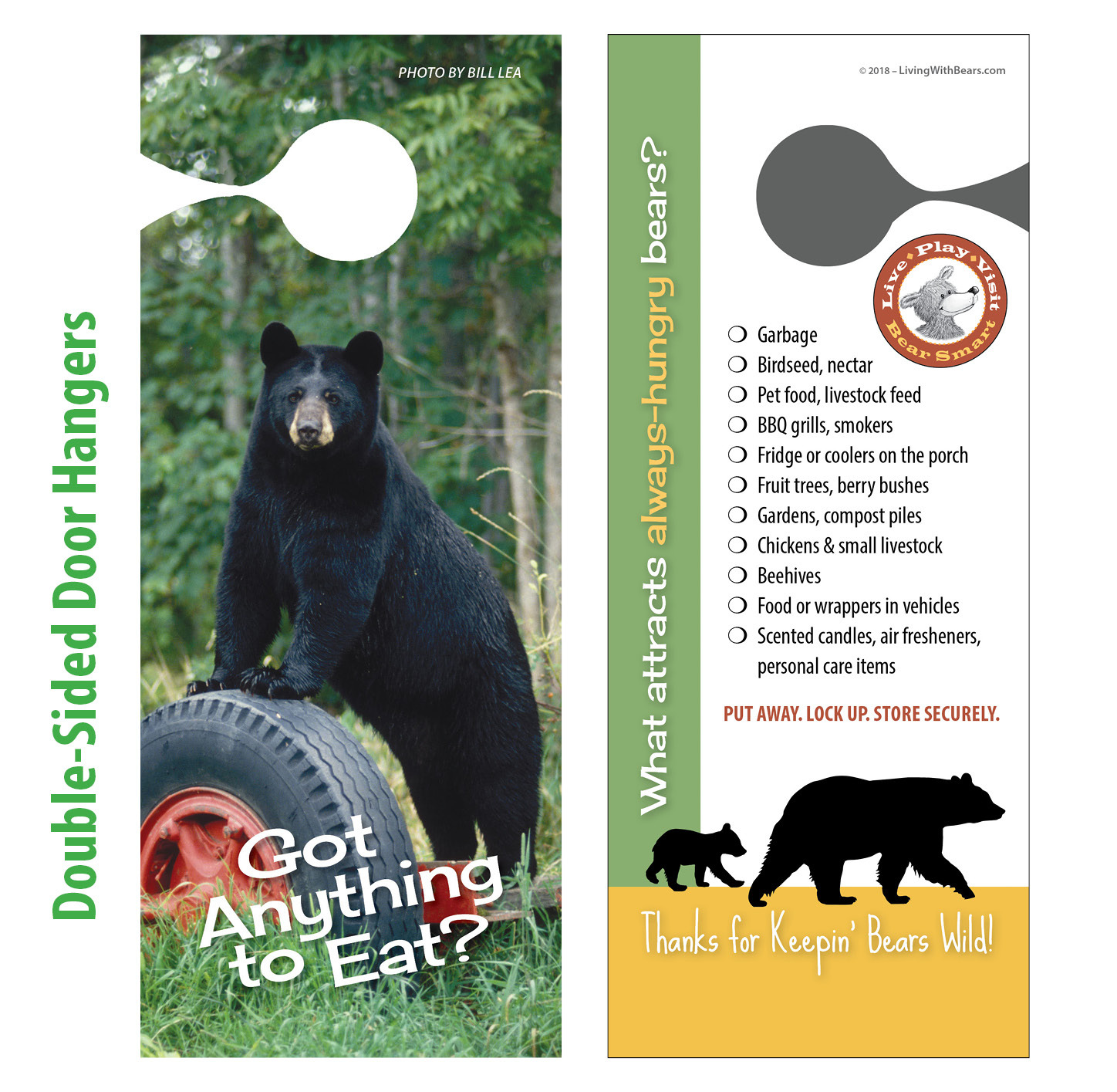 Bear Smart Door Hangers BS-DH