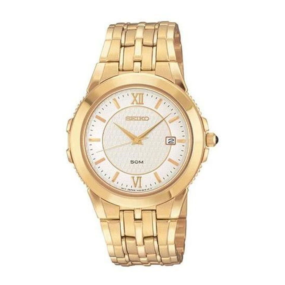 Gents Seiko Quartz Gold Plated Watch
