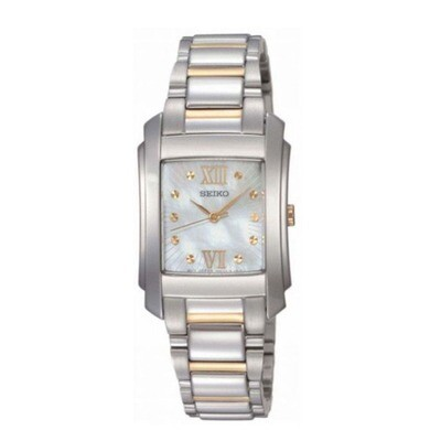 Ladies Seiko quartz two-color bracelet watch