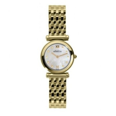 Ladies Michel Herbelin Gold Plated Bracelet Watch
