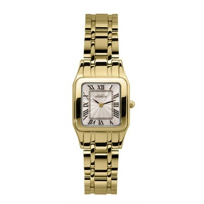 Ladies Michel Herbelin Luna gold plated bracelet watch