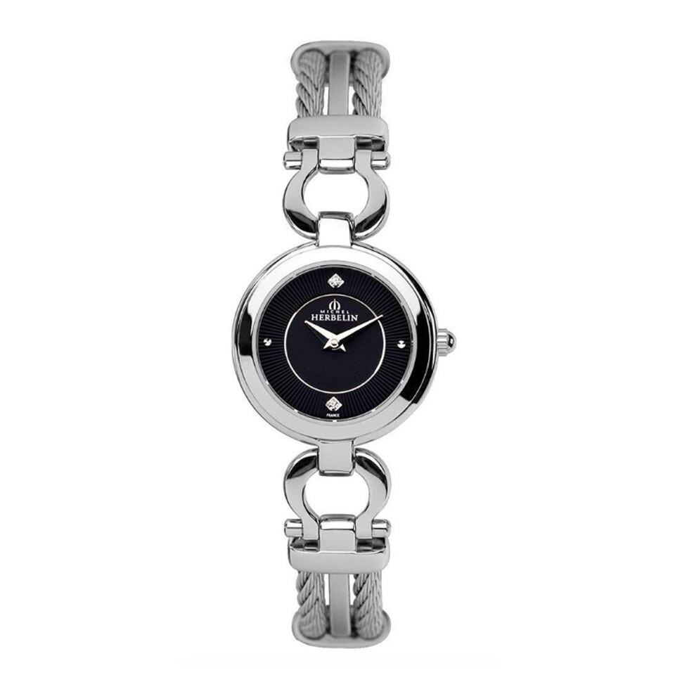Ladies Michel Herbelin Stainless Steel Cable Watch