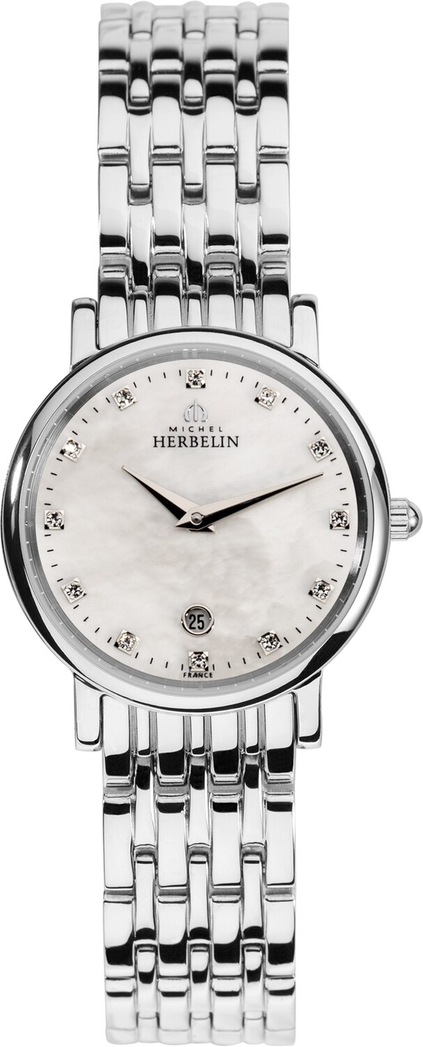 Ladies Michel Herbelin watch with mother of pearl dial 16945/B59