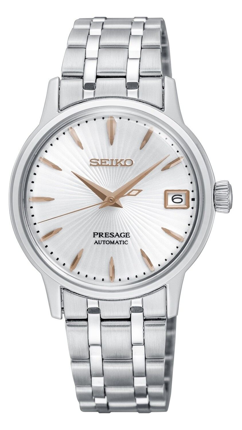Seiko SRP855J1 Ladies Automatic PRESAGE Watch with White Dial