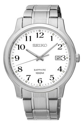 Seiko SGEH67P1 Gents Stainless Steel Bracelet Watch With Calendar