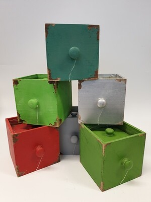 Planters Set of 3 Distressed Look Boxes