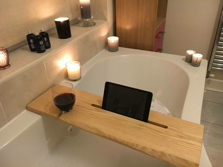 Ready Made Luxury American Ash wood Bath Caddies