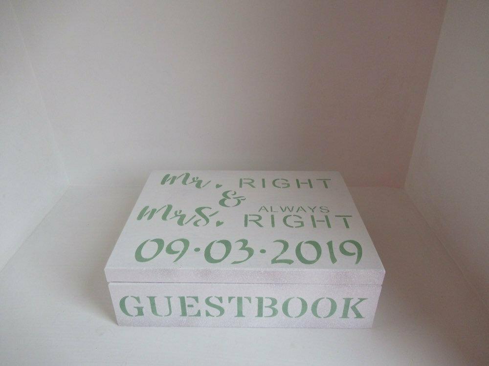 Personalised Wedding Card Gifts Guestbook Memory Box Bespoke  Gift Box