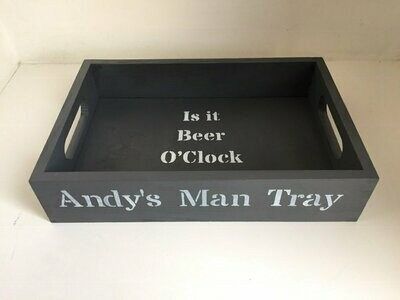 Dad's personalised Man Tray Fathers Day gift decorative shabby chic wooden tray  Free UK P&P