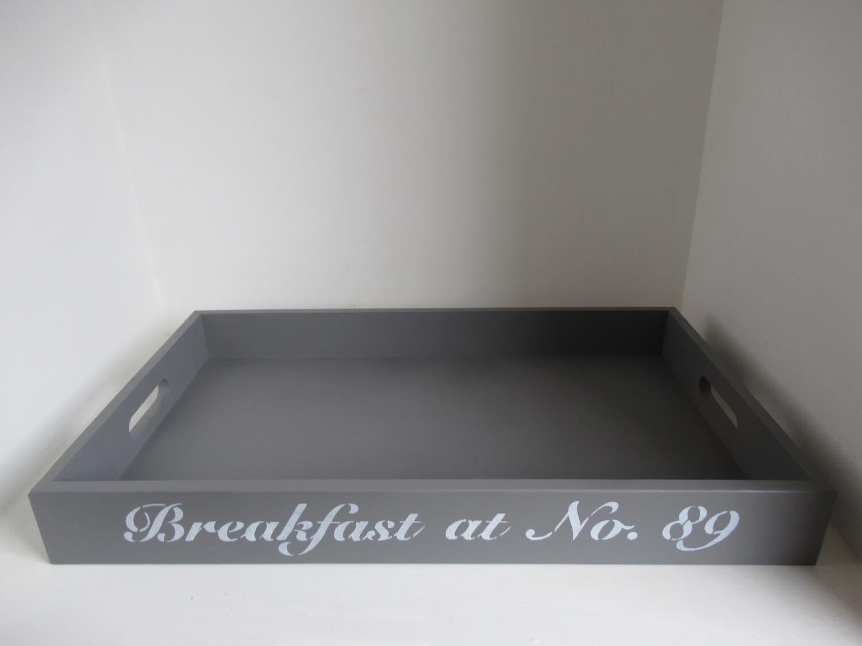 Personalised Breakfast Tray decorative  shabby chic wooden tray  Free UK P&P