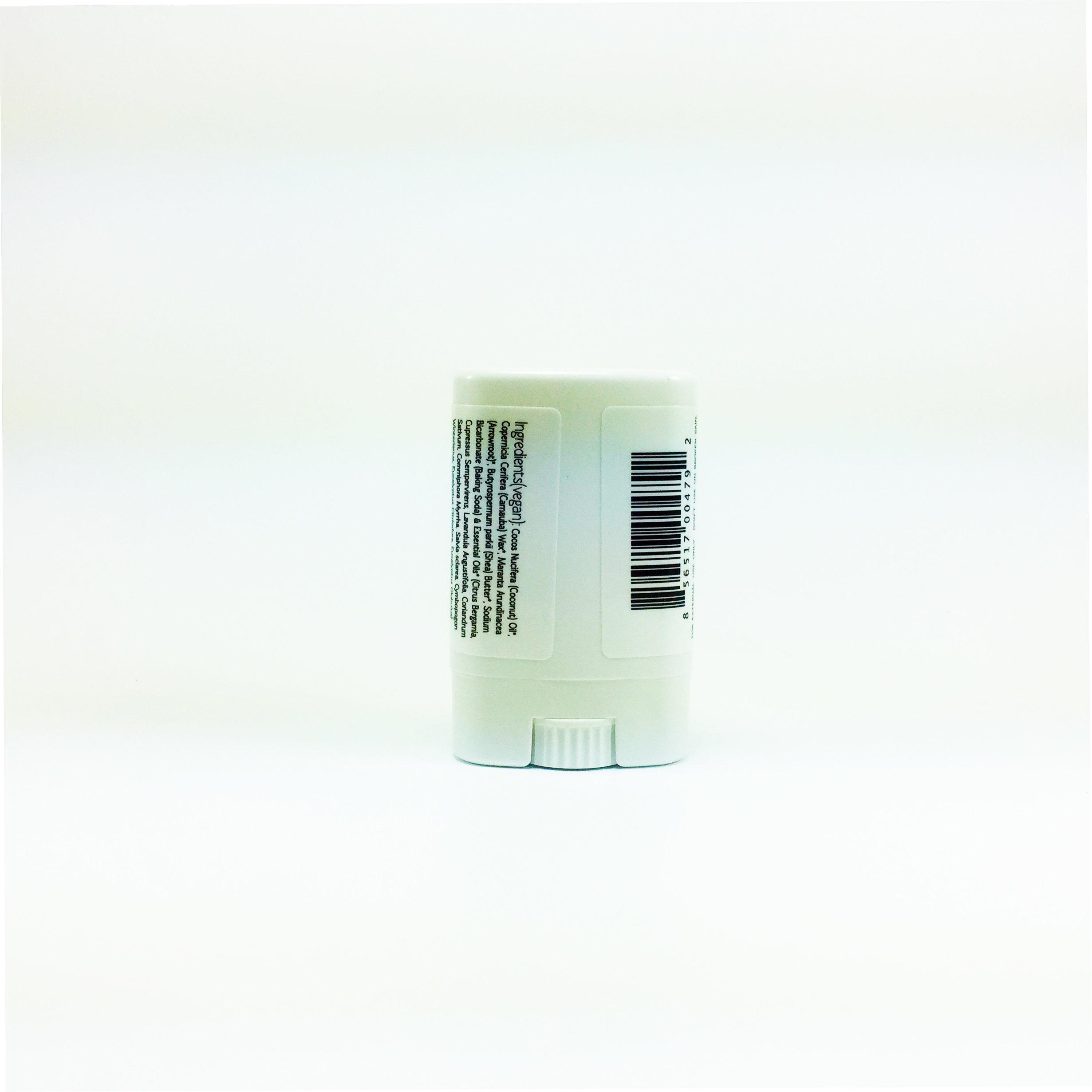 Al Sol Organic Deodorant Back Label