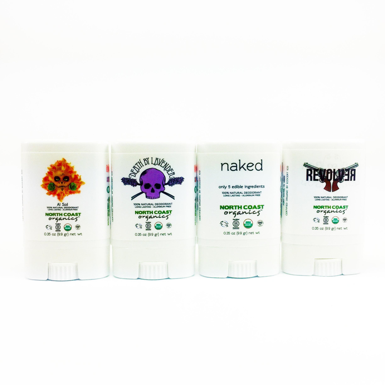 Organic Deodorant Travel Size 4 Pack  - Original Four 9999