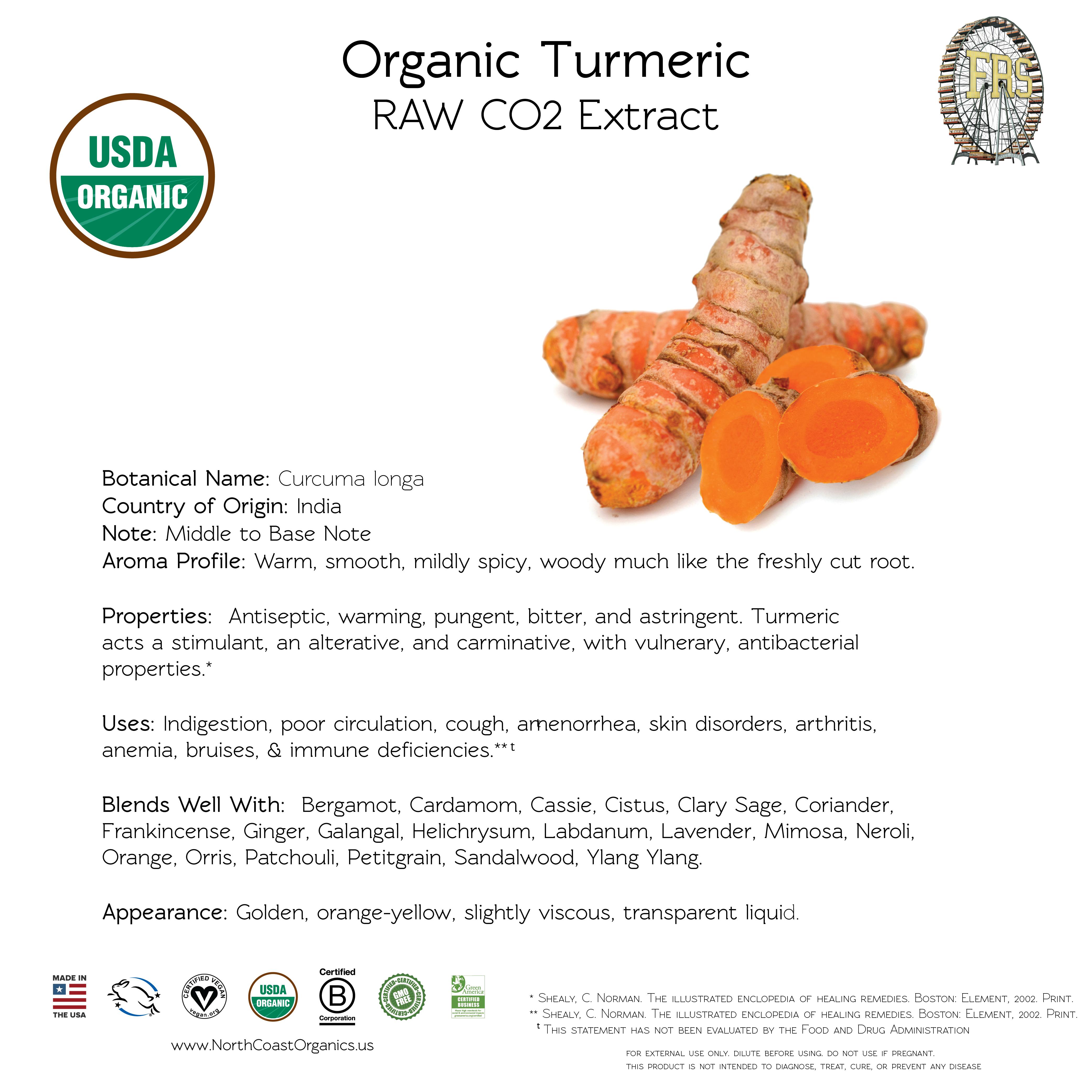 Organic Turmeric Essential Oil Information