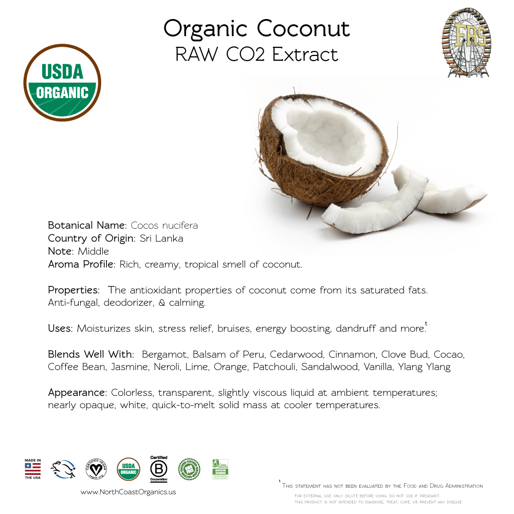 Organic Coconut Essential Oil Information