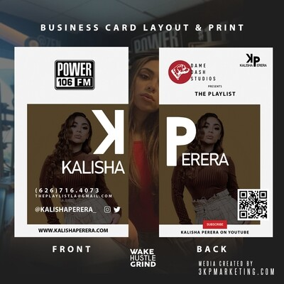 Print + Design 500 Business Cards 16pt Gloss