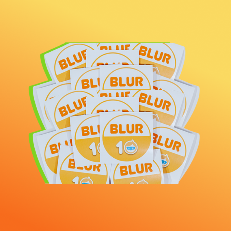 BLUR 10 Sticker-10 Pack
