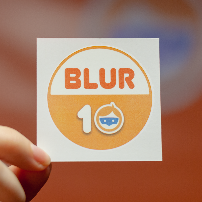 BLUR 10 Temporary Tattoo-10 Pack