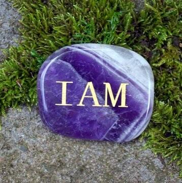 I AM Palm Stone in Amethyst