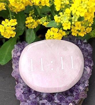 11:11 Palm Stone in Rose Quartz