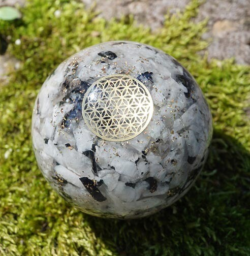 Custom Orgone Spheres with Flower of Life