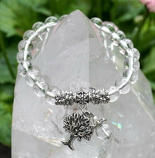 Clear Quartz Tree of Life Bracelet