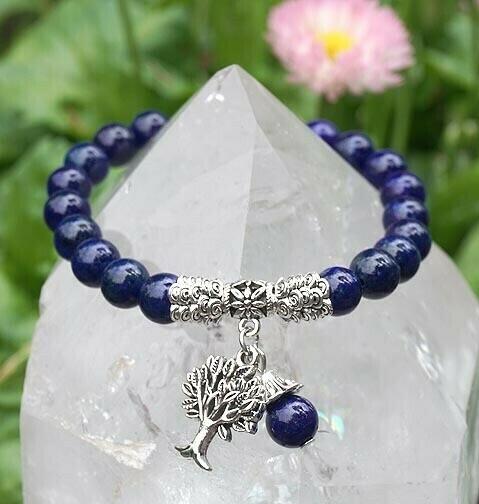 Lapis Tree of Life Bracelet