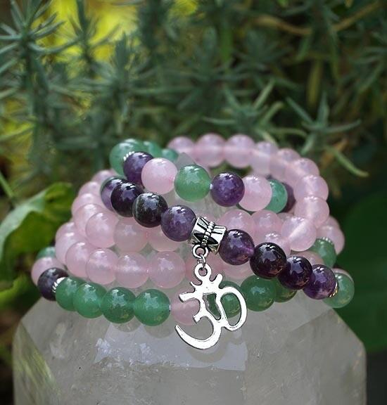 108  OM Prayer Beads