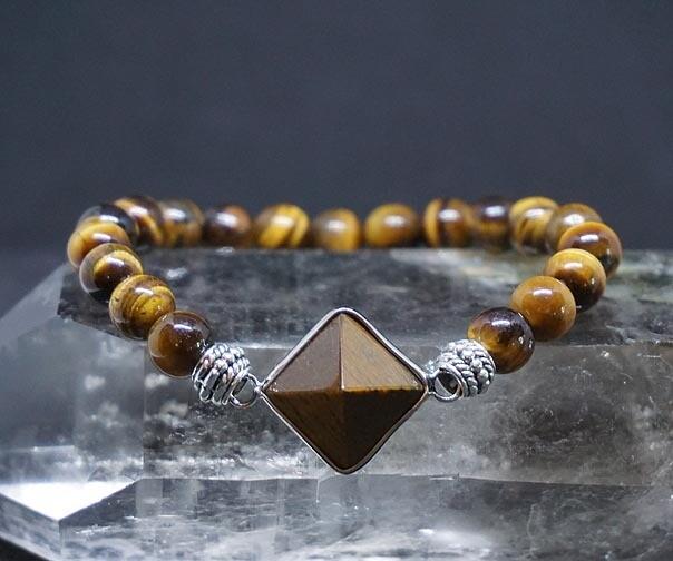 Tiger Eye Pyramid Bracelets