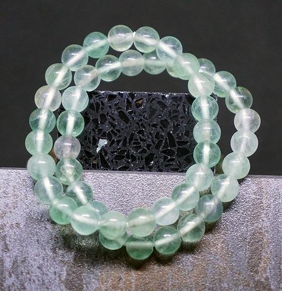Aqua Green Fluorite Bracelets
