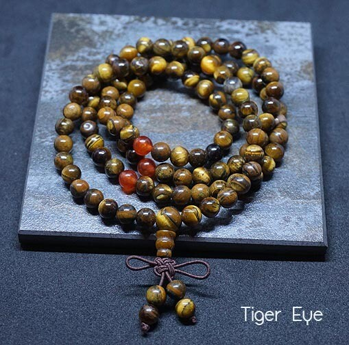 Tiger Eye 108 Prayer Beads
