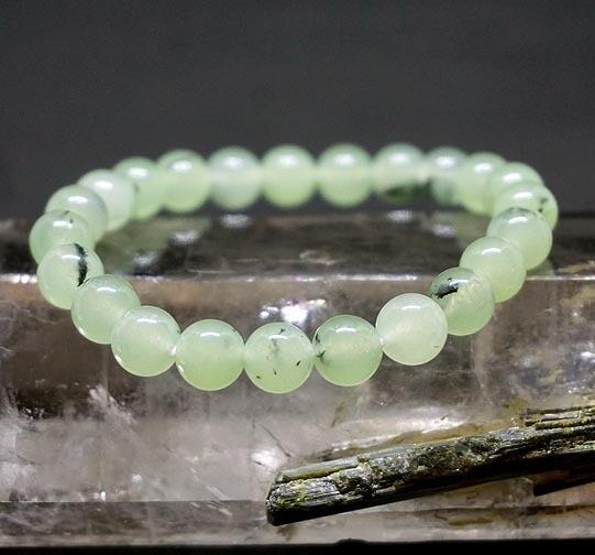 Prehnite with Epidote Bracelets