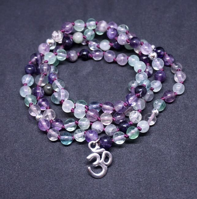 Rainbow Fluorite 108 Prayer Beads