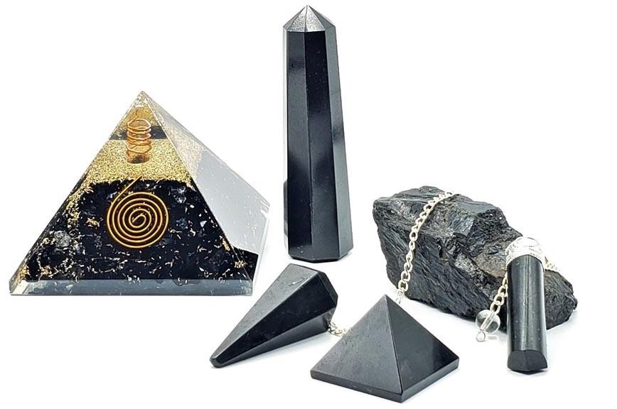 Black Tourmaline Crystal Set