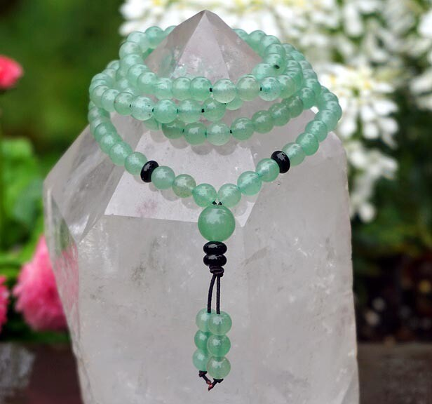 Green Aventurine 108 Prayer Beads