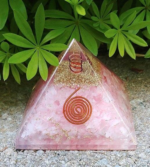 Orgone Pyramid in Rose Quartz