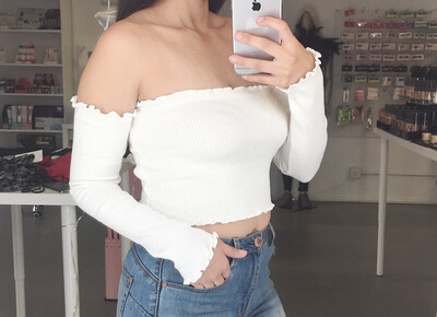 Long Sleeve Tube Crop Top