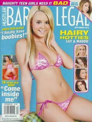 Barely Legal Magazine Back Issue September 2012