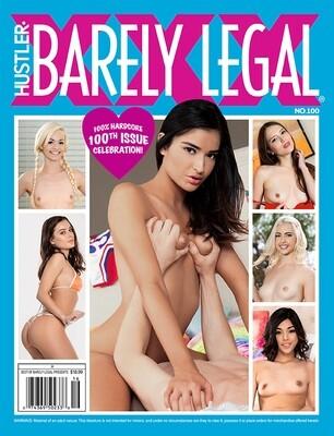 HUSTLER BARELY LEGAL XXX NO. 100 2019 Hardcore magazine
