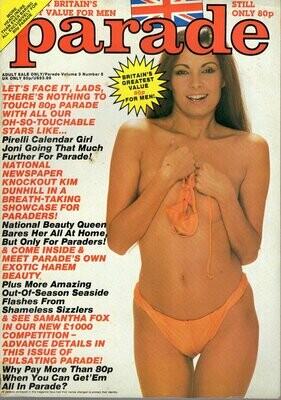 PARADE 1980's V3N5 British Mens Magazine Joni Flynn