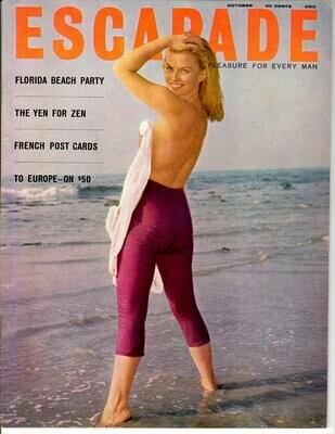 Vintage Escapade Magazine October 1960