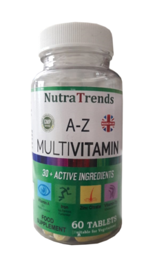 A-Z Multi Vitamins And Minerals Plus 30 Active Ingredients Made In Uk Tablets