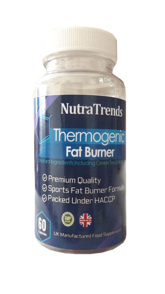 Thermogenic Fat Burner 60 Capsules WIth 5 Natural Ingredients Uk Made