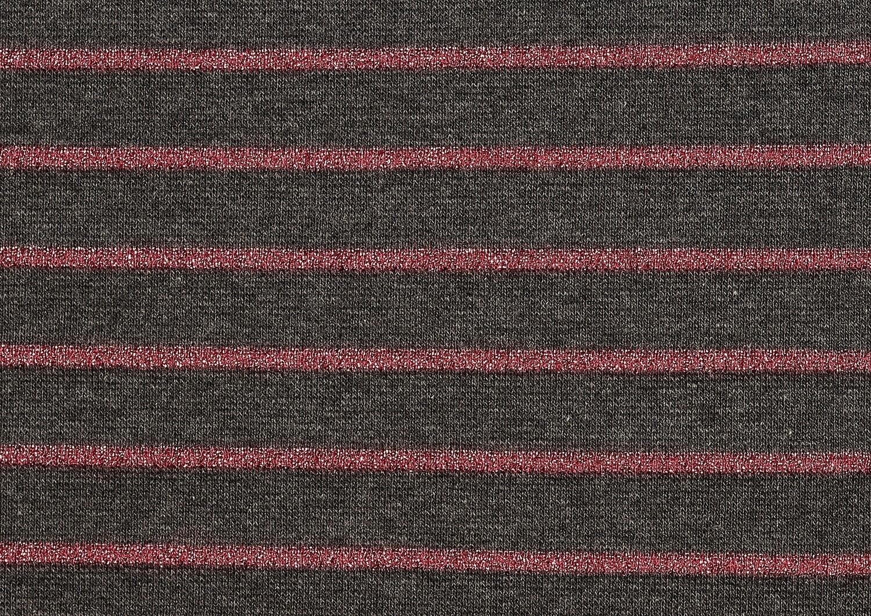 Lurex pinkkiraita, tummanharmaa