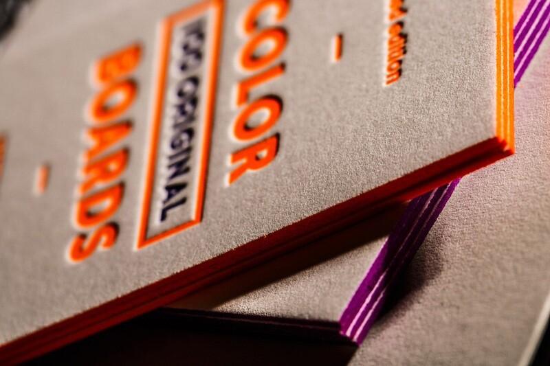 Покраска торцов визиток