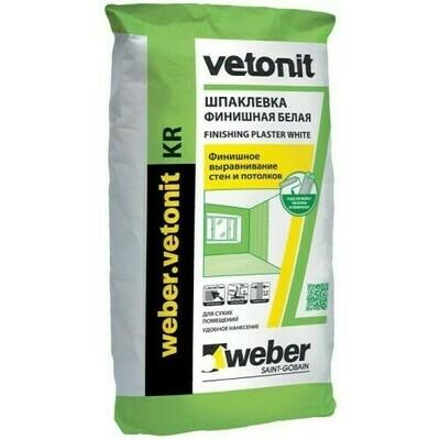 Шпаклевка Ветонит КР финишная (Vetonit KR) Weber KR