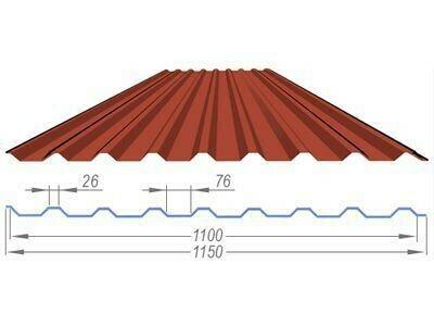 Профнастил коричневый оцинкованный RAL 8017 С-20