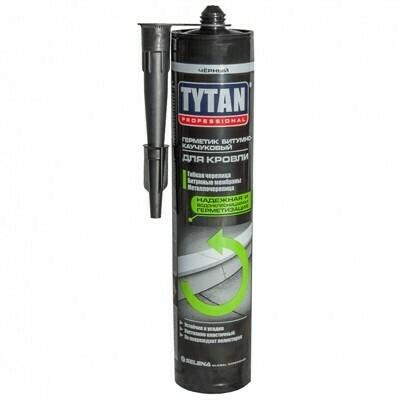 Герметик Tytan Professional, битумно-каучуковый для кровли, черный 310 мл