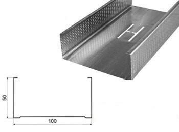 Профиль Эконом 100х50х4м 0,40мм стоечный